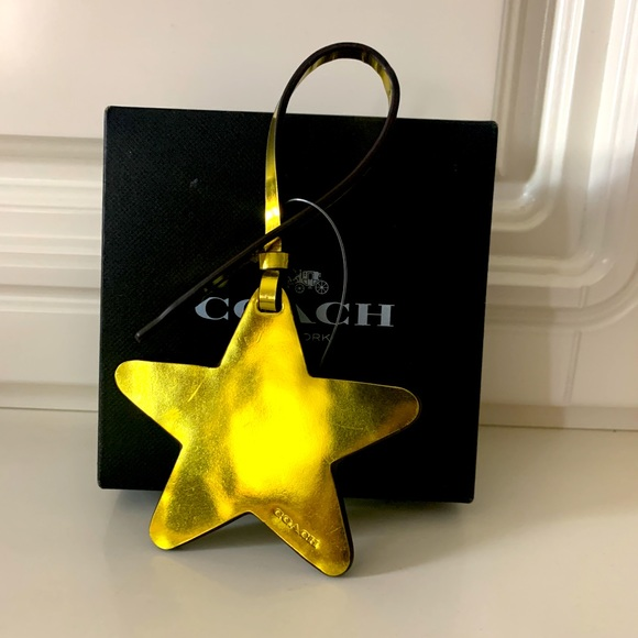 Coach Star ⭐️ leather bag charm